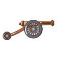 artillery cannon icon cartoon style