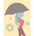 beautiful woman with umbrella vector image vector image