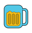 beer in glass icon image vector image vector image