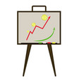 bitcoin growth chart vector image