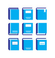 books icons set vector image vector image
