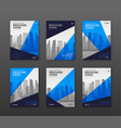 brochure cover design templates set for vector image vector image