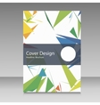 Brochure in colors of Brazil flag color vector image