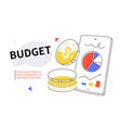 budget - modern colorful flat design style web vector image vector image
