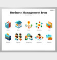 business management icons isometric pack vector image vector image