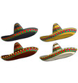 cartoon traditional mexican hat sombrero vector image vector image
