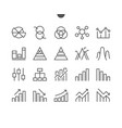 charts ui pixel perfect well-crafted thin vector image vector image