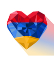 crystal gem jewelry Armenian heart with the flag vector image vector image