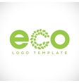 Eco Leaf Abstract Logo Template vector image vector image