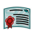 education diploma isolated vector image