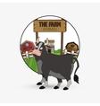 Farm design animal icon nature concept vector image