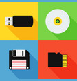 flat design long shadow styled modern icon vector image vector image