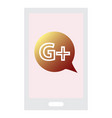 google plus icons on white background vector image vector image