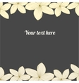 Hand-drawing flower border vector image vector image