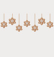 hanging gingerbread snowflakes cookies vector image vector image