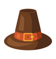 happy thanksgiving pilgrim hat vector image