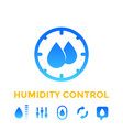 humidity control icons set vector image vector image