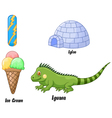 I alphabet vector image vector image