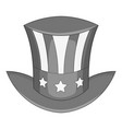 independence day hat icon monochrome vector image vector image