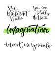 inspirational calligraphy set modern hand vector image vector image