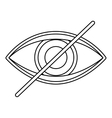 Isolated eye of blind people design vector image vector image