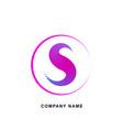 letter s logo emblem or banner for business vector image vector image