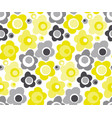 lime color simple floral seamless pattern vector image vector image