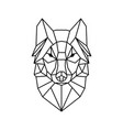 low poly wolf design vector image vector image