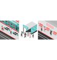 metro subway design concept vector image vector image