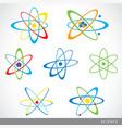 molecules atoms symbol science icon vector image vector image