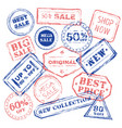 new sale stamp collection vector image vector image