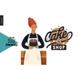 owners - small business graphics - cake shop vector image vector image