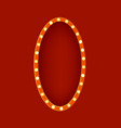 realistic detailed 3d glowing sign oval vector image
