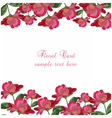 Roses floral card rose flowers banner vector image vector image