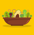 salad icon flat style vector image
