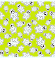 seamless halloween pattern with funny ghosts vector image