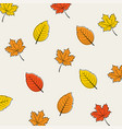 seamless pattern background autumn leaves vector image vector image