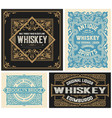 set 4 vintage liquor labels layered vector image vector image