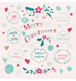Set of Christmas and New Years graphic elements vector image vector image