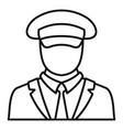 ship captain icon outline style vector image vector image