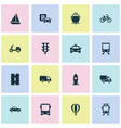shipment icons set collection of road sign vector image