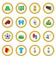 soccer cartoon icon circle vector image vector image