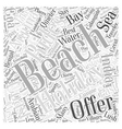 Take a Beach Holiday Word Cloud Concept vector image vector image