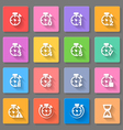 Time set of flat icons vector image