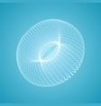 torus consisting of points 3d molecular grid vector image vector image