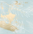 tropical worn floral pastel blue blush gold vector image vector image