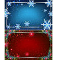 two background templates with blue and red colors vector image