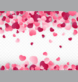 valentines day background with pink hearts love vector image vector image