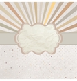 Vintage Sun burst Card vector image vector image