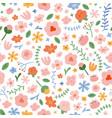 wall flowers seamless pattern made